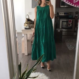 Who What Wear Green Maxi, Size XS